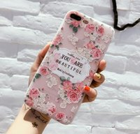 One PCS Case Rose Flower Kitty Carton Smooth Soft Glossy TPU...