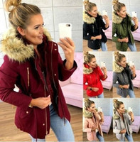ZOGAA Winter Parkas Women Thick Warm Big Faux Fur Hooded Jak...
