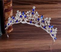 Superbe princesse Grand Mariage Crowns Bridal Bijoux Headpieces Tiaras Femmes Silver Metal Crysé Européenne Headpieces Bijoux Accessoires de mariée
