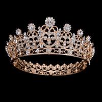 Bling Perlen Kristalle Hochzeit Kronen 2019 Braut Diamant Schmuck Strass Stirnband Haar Krone Zubehör Party Tiara