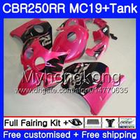 Injektionsform för Honda CBR 250RR MC19 CBR250RR 1988 1989 Kropp 261HM.29 CBR 250 RR 250R Pink Black Hot CBR250 RR 88 89 Fairing Kit + Tank