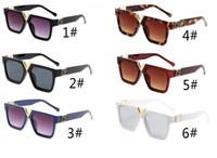 Neueste Sommermode Frau Fahren Sonnenbrille Damen Outdoor Sonnenbrille Radfahren Mann Eyewear Schwarze Sonnenbrille UV 400 6farben Kostenloser Versand