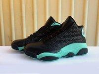 J13 الجزيرة الخضراء الرجال النساء أحذية كرة السلة مصمم الاحذية الأسود التجاعيد فضي معدني 13S رخيصة رياضية الرياضة أحذية رياضية