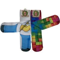 3D 양말 패션 디자인 아이 사용자 지정 인쇄 양말 / 사용자 정의 아이 양말을 인쇄