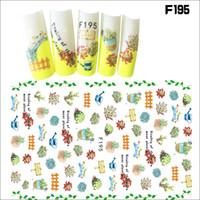 Produits pour les ongles 3D Back Sticker Sticker Ongles feuille d'érable / pétale / écureuil DIY Art Décoration F Series