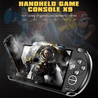 X9 ترقية يده لعبة لاعب 5.1 بوصة وشاشة كبيرة المحمولة لعبة وحدة التحكم MP4 لاعب مع الكاميرا والتلفزيون خارج TF الفيديو لGBA FC لعبة