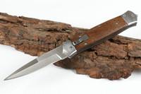 أعلى جودة F125 السيارات التكتيكية الطي سكين 8cr13mov الحرير بليد الخشب مقبض edc سكاكين الجيب goft مع كيس نايلون