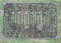 Tapete de porta de Ferro fundido Retângulo Velho Teclas Rolagem Capacho Vitoriano Antigo Decorativo Ofício Do Metal Para Casa Jardim Quintal Pátio Acessórios Do Vintage