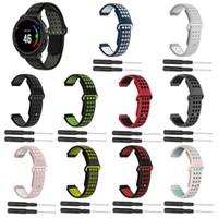 Deux couleurs 2 en 1 bracelet de montre en silicone souple remplacement bracelet de montre bracelet pour Garmin Forerunner 220/230/235/620/630 montre intelligente