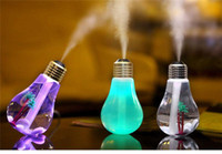 JUXU 400ML USB DC 5V 7 Couleurs Night Light Air Ultrasons Ampoule Humidificateur Huile Essentielle Aroma Diffuseur Mist Maker Fogger