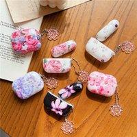 케이스를 충전 애플 Airpods 프로 봄 꽃 핑크 꽃 꽃 꽃 블루투스 무선 이어폰 커버