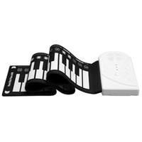 49 Tangenter Flexibel Piano Synthesizer Hand Roll Up Portable USB Soft Keyboard Midi Bygg i högtalarelektroniskt musikinstrument