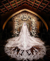 New Wedding Veils Cheap Free Shipping Lace Sequins Appliqued...