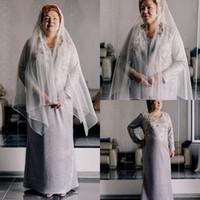 Abiti a maniche lunghe A Line Wedding Dresses Jewel Neck Satin di Applique Abiti da sposa taglie forti da sposa 2020 Boemia di nuovo arrivo