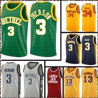 Mens High School Allen 3 Iverson College Len 34 Jersey 13 Harden 33 Basketball Jerseys