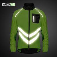 Giacca ciclismo WOSAWE riflettente antivento uomini respirabili Mtb strada della bici di montagna della maglia senza maniche di sicurezza Sport Windbreaker