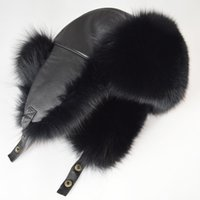 Brand 100% Natural Fox Fur Bomber Hats High Quality Luxury W...
