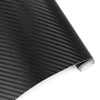 30cmx127cm autocollants 3D en fibre de carbone vinyle voiture de feuille enrobe Rouleau Film voiture et Stickers moto et en voiture Styling Accessoires Voitures