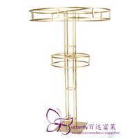 Высокая башня Золотой Многоуровневый Цветочный Райзер 10 FT Высоких Металлические Цветочные Гирлянды Стенд Свадебные партии Украшение