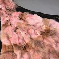 Maylofuer reale Rosa pelliccia di lupo Liner Parka, Donne naturale pelliccia staccabile Parka Liner Raccoon collare Hood