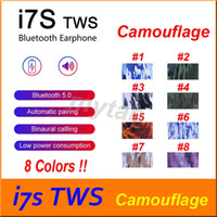 Camouflage I7S TWS Bluetooth earphone earbuds colorful paint...