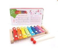 Madeira Mão Knocking Piano Infantil Toy Instrumentos Musicais Criança xilofone Developmental madeira presentes Brinquedos Baby Kids Melhores