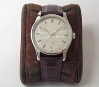 37mm Unisex Vintage İzle Erkekler ST19 Mekanik El Winde 5196 Eta Bayan Saatleri Erkek Calatrava Deri Orta ölçekli Safir Çelik saatı