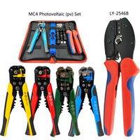 Solare fotovoltaico MC4 connettore pinza di piegatura set2.5-6.0mm2 AWG14-10 elettricista multifunzione utensili a mano Spellafili