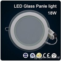 SMD5730 verre LED downlight Ronde Plafond Éclairage 18 W panneau encastré Downlight AC85-265V Haute luminosité LED lumière intérieure
