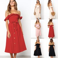 Summer Sexy Dress Women One-button Collar Single-breasted Solid Color Dress Sleeveless Vestido Women Clothes New Clothes