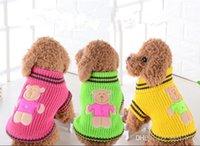 Commercio all'ingrosso animale domestico caldo maglione cane barboncino Navy Teddy vestiti di autunno e inverno maglione Vestiti del cane assicura il trasporto libero