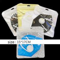 Máscara de embalaje Bolso transparente bolsa de plástico sellada para almacenar máscara Snacks cosméticos bolsa sellada 50pcs / lot A03