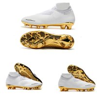 2019 chaussures de football en crêpe or blanc Ronaldo CR7 d'origine, fabrication exquise, bottes de football Phantom VSN Elite DF FG