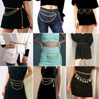Designer recomenda cinto de corrente de metal das mulheres cadeia de cintura criativo de moda feminina corpo corrente retro multi-camada personalizado