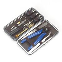 Vape DIY RDA RBA 건물 코일 지그 알렌 드라이버 가위 펜치 트위터 브러시에 대한 설정 원래 Vapswarm V3.5 도구 키트 케이스 DHL을 수행