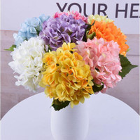 Искусственный цветок гортензии 10шт / серия свадебные украшения Real сенсорный материал Главная партия украшения для вечеринок шелк цветок LXL286-A