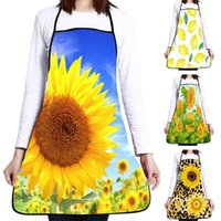 Sunflower Print Women Oil Water Proof Home Cooking Baking Cl...