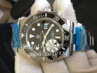 Top Factory Herren Automatik Eta 2836 Uhrwerk Herren Keramik Lünette Stahl Dive Sport 116610 Sub Uhren Datum JF Perpetual Armbanduhren