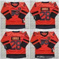 79 Carter Hart 2019 Stadium Série Camisas Philadelphia Flyers Homens 28 Claude Giroux 93 Jakub Voracek 17 Camisas de Hóquei Wayne Simmonds