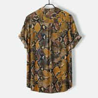 Männer Kurzarmhemd Sommer-Blumen lose Baggy beiläufige Hawaii Holiday Beach Shirts T-Tops Buttons Bluse nationale Art 2.21