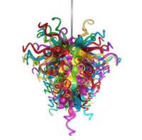 Chine Lampes en gros Art Pendentif Lights Style Murano Verre Chandeliers Éclairage Moderne Fantaisie Fleur Lustre Light