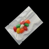 8 * 12cm Open Top di plastica trasparente bianco 200pcs Imballaggio sacchetto / sacco Alimenti secchi fiori Snack vuoto Pacchetto Poli trasparenti Imballaggio Bag