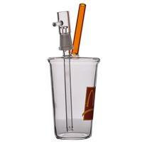 Mini Cup Good Glass Bubbler Beaker Bong Recycler Oil Water Bongs Дымовая труба с 14 мм Совместные кальяны Shisha Glass Bubbler 8 дюймов