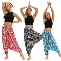 National Style Dance Yoga Pants Digital Printing High Waist ...