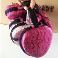 Silicona ropa interior invisible bolsas de almacenamiento de mini forma de sujetador del corazón bolsa caso de la cáscara de huevo rosada de la flor de la raya con la cremallera de contenedores ZZ 5 de 5 piezas
