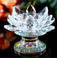 De gama alta vela cristalino del loto del sostenedor del hogar Decoración Accesorios Una variedad de colores opcionales romántica de la boda de la palmatoria