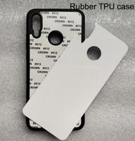 Gumowy TPU Sublimation Case dla Huawei P50 P40 P30 P20 Pro P10 Lite P Inteligentny Puste pudełko z płytką aluminiową 100 sztuk / partia