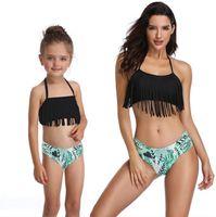 Mädchen Badebekleidung Familie Matching Bikini Shorts 2 stücke Sets Mutter Kinder Badeanzüge Sommer Mode Schwimmen Kostüme 3 Farben WZW-yw2622