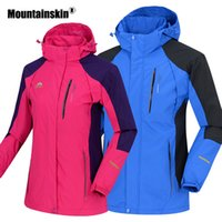 Mountainskin Uomo Donna Primavera Outdoor Sports Water Repellent Giacche escursione di campeggio Windbreaker Trekking Climbing Coat VA331 T190919