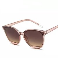 2019 Ladies Clear Lens Small Narrow Occhiali da sole Vintage Rimless Rectangle Sunglasses Womens Mens Red Shades Metal Frame Eyewear